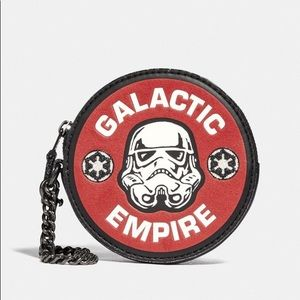 Coach Star Wars Round Coin Case Galactic Empire